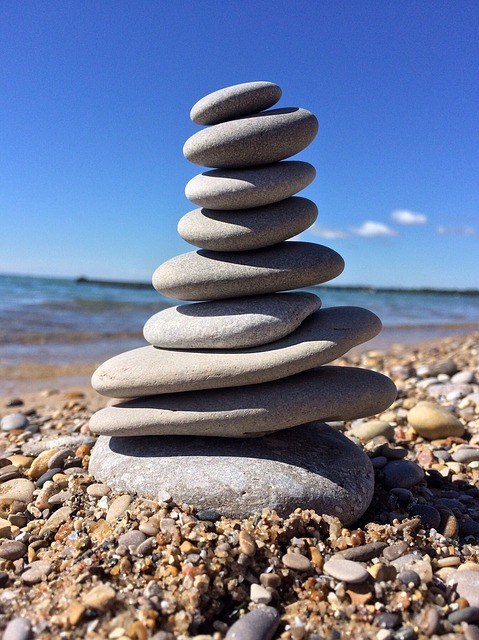 Rocks, Stacked, Balance, Stone, Water, Beach