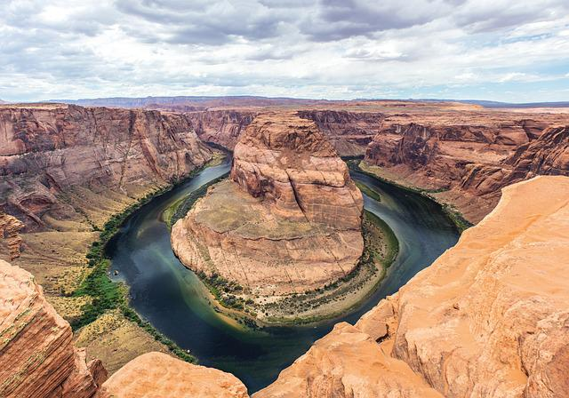 Horseshoe Bend, Arizona, Rocks, Natural, Landscape