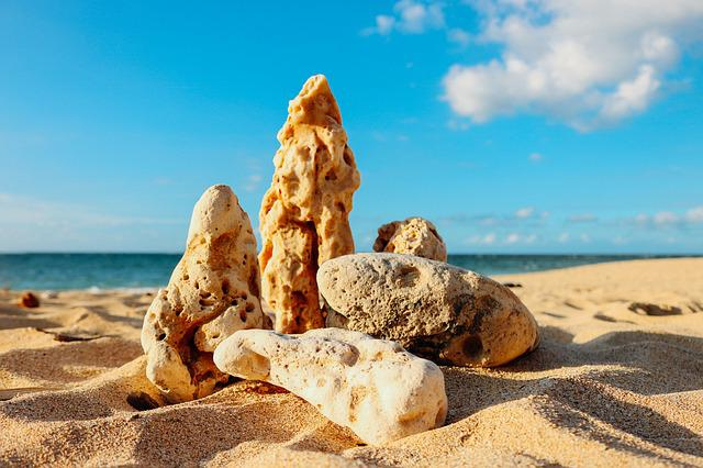 Rocks, Sand, Beach, Stone, Nature, Blue, Summer, Water