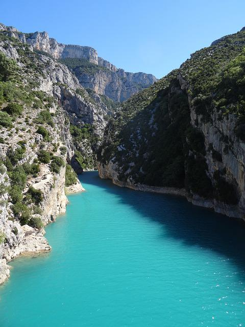 Gorge Du Verdon, France, Provence, View, Blue, Rocks