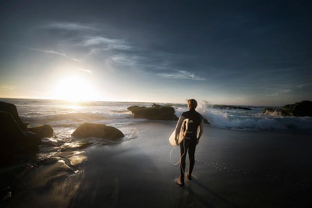 Beach, Man, Ocean, Rocks, Sand, Sea, Seascape, Seashore