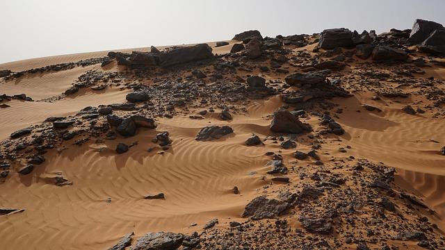 Desert, Rocks, Sand, Sudan, Meroi