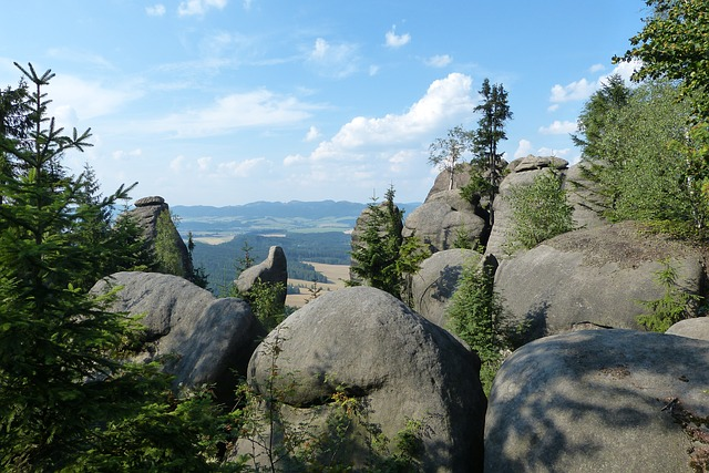 Rocks, Broumovsko, View