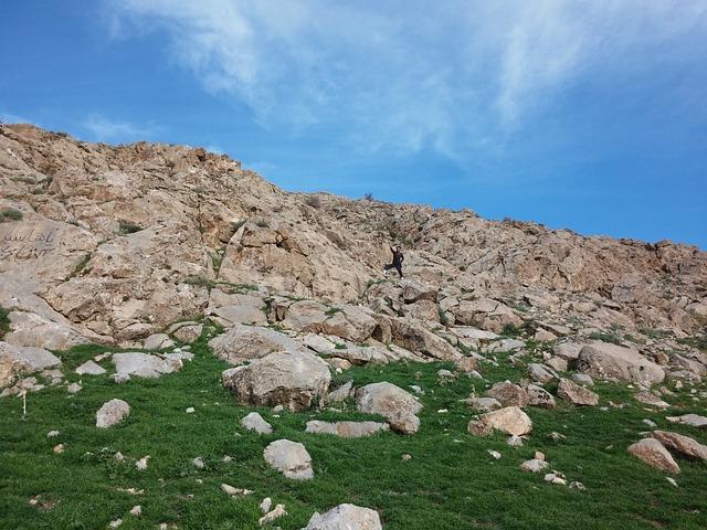 Sky, Iran, Alvanaq, Stones, Mountains, Rocky, Spring