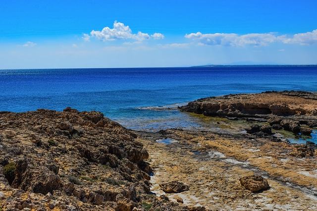 Rocky Coast, Nature, Sea, Seashore, Sky, Clouds