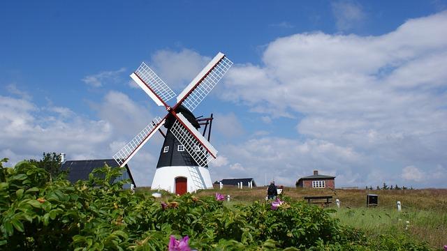 Windmill, North Sea, Römö, Mood, Denmark, Building