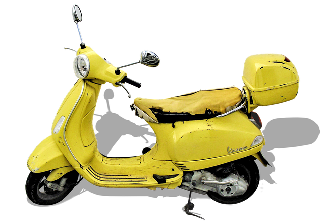 Vespa, Retro Car, Isolated, Roller, Motor Scooter