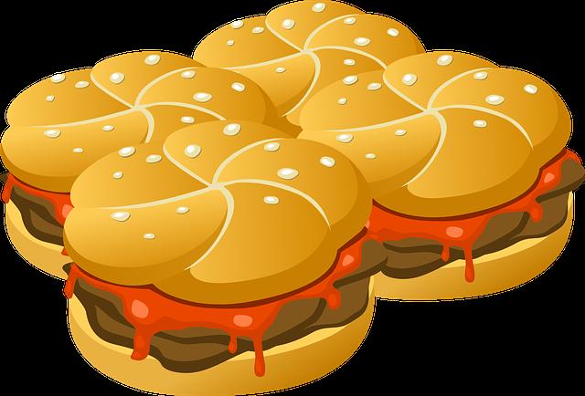 Hamburgers, Burgers, Food, Fast Food, Buns, Rolls