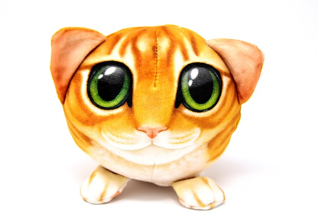 Cat, Abstract, Funny, Roly-poly, Soft Toy
