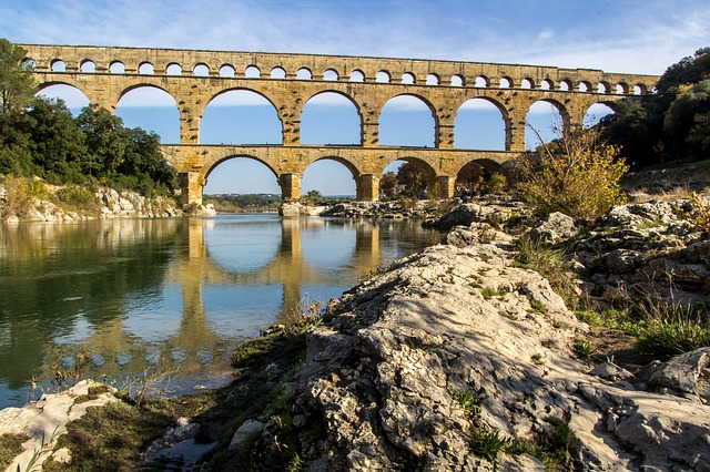 Pont Du Gard, France, Aqueduct, Bridge, Roman