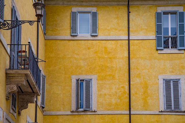 Facade, Window, Balcony, Architecture, Italian, Roman