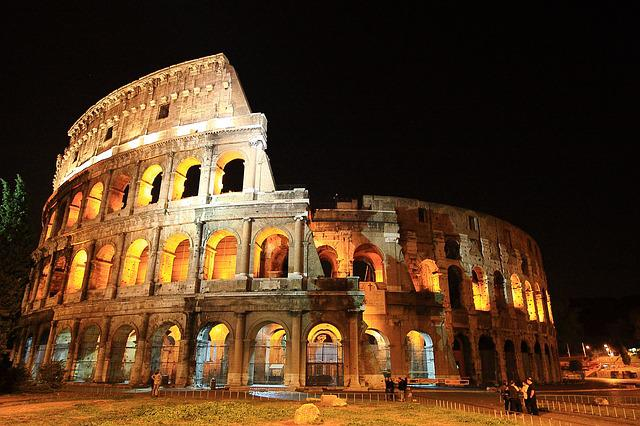 The Colosseum, Italy, Roman