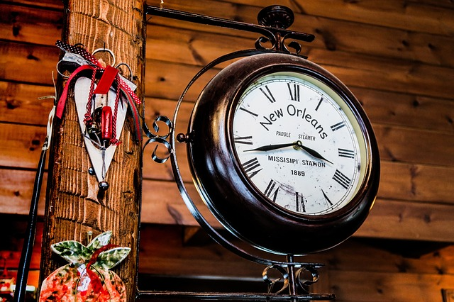 Clock, Time, Number, Roman Numerals, Hand, Wood