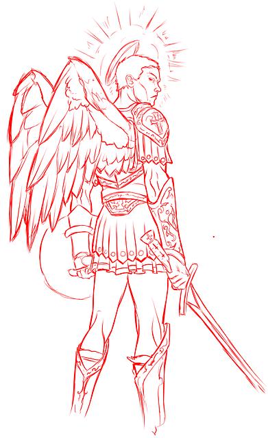 Angel, Warrior, Wings, Winged, Sword, Roman, Halo