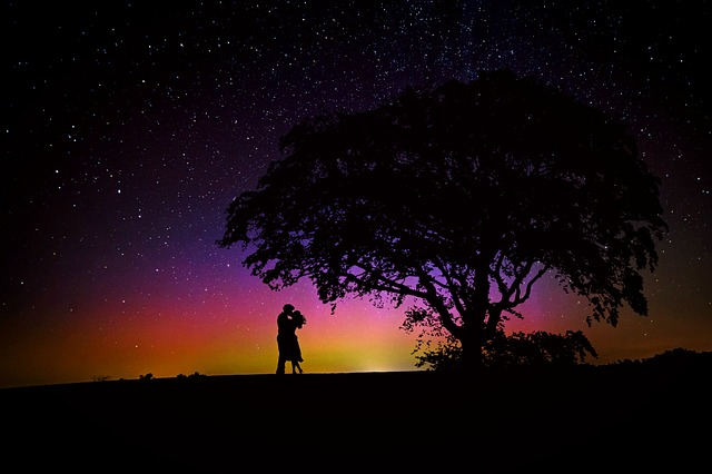 Lovers, Romance, Starry Sky, Afterglow, Love, Pair