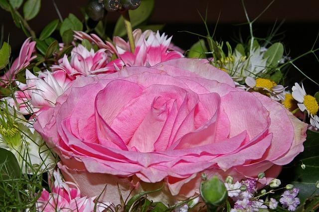 Rose, Bouquet, Flowers, Vase, Bouquets, Romance, Pink