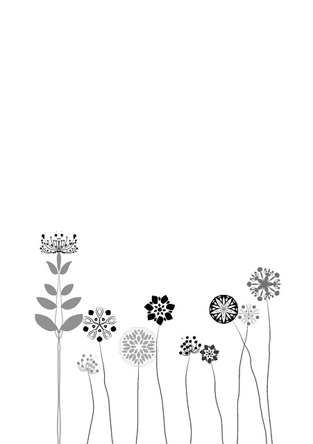 Flower, Abstract, Floral, Black, Romantic, Romance