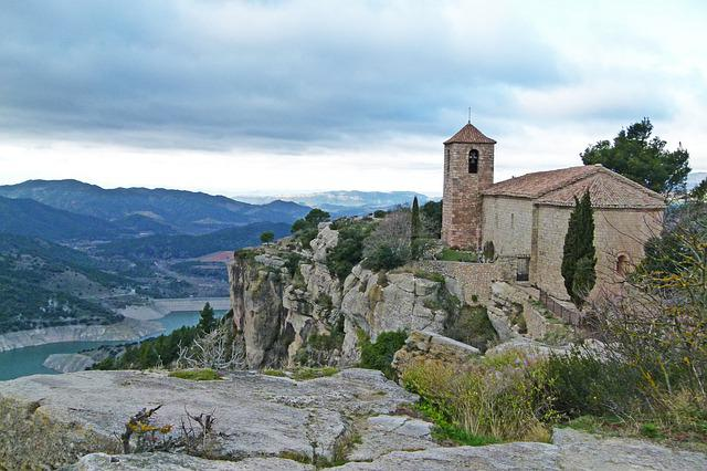 Romanesque, Church, Siurana, Catalunya, Cliff, Nature