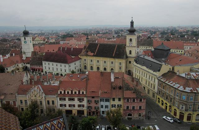 Sibiu, Transylvania, Romania, Buildings, Old Town
