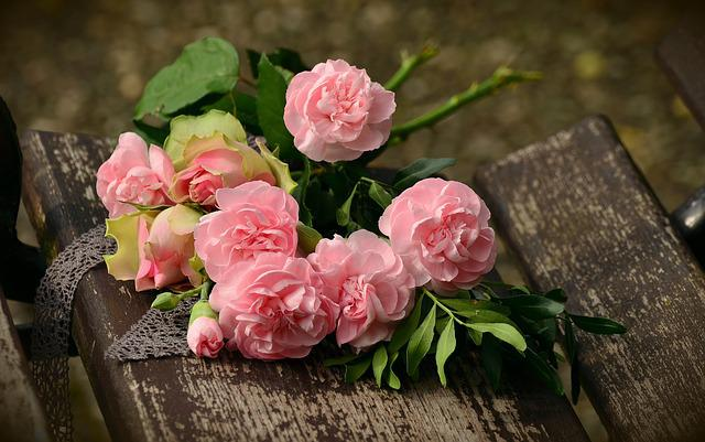 Bouquet, Cloves, Roses, Romantic, Birthday Bouquet