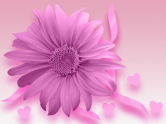 Flower, Design, Romantic, Background Romantic