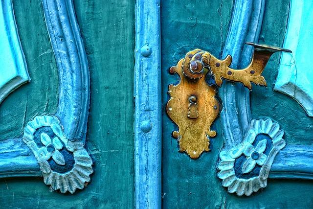 Castle, Blue, Door, Romantic, Building, Door Handle