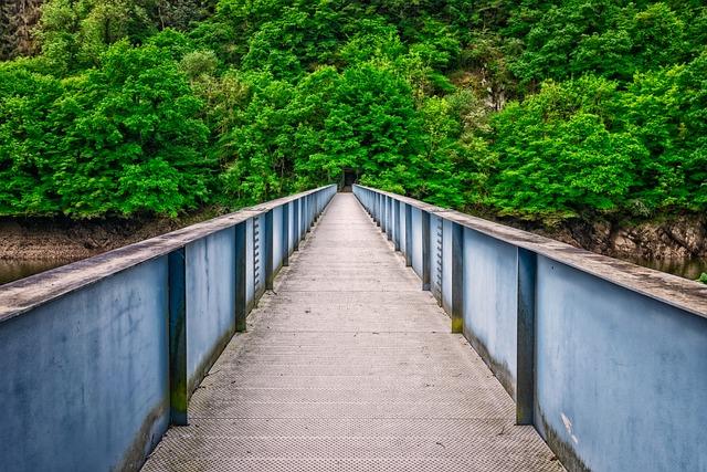 Bridge, River, Landscape, Transition, Romantic, Hiking