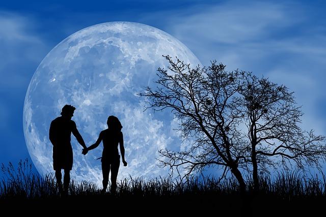 Romantic, Romantic Night, Full Moon, Happy, Love