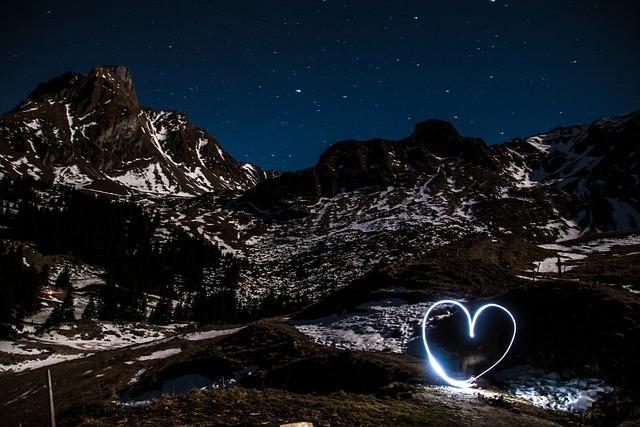 Light Graffiti, Light Drawing, Pair, Love, Romantic