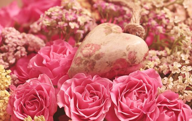 Roses, Heart, Noble Roses, Romantic, Pink, Flower