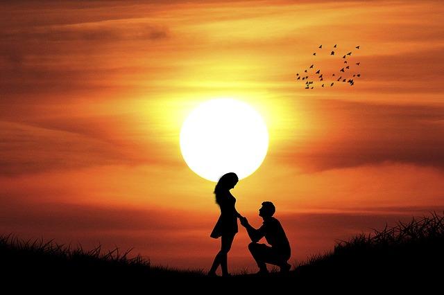Manipulation, Silhouette, Romantic, Love, Couple