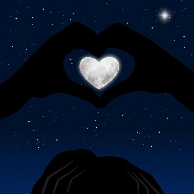 Heart, Reflection, Hands, Star, Love, Romantic