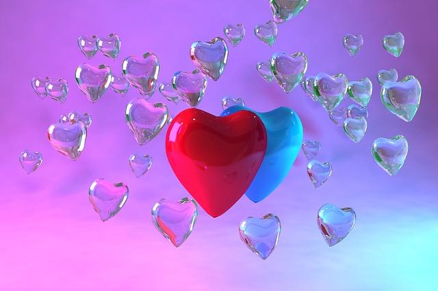 Love, Vivid, Romantic, Symbol