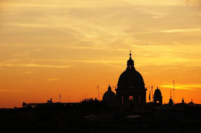Sunset, Italy, Rome, St Peter's Basilica, Abendstimmung