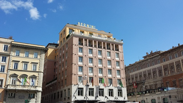 Bernini, Home, Hotel, Rome, Building, Architecture