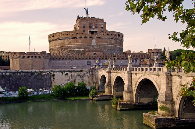 Rome, Italy, Capital, Landscape, Bridge, Tiber