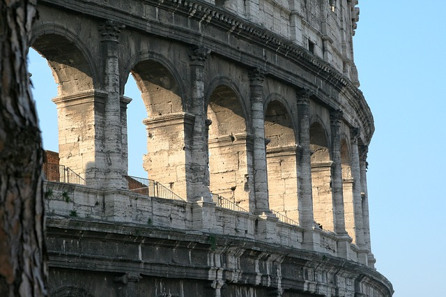 Italy, Rome, Coliseum, Ancient Architecture