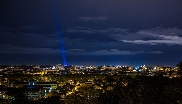 Rome, Night, Glow