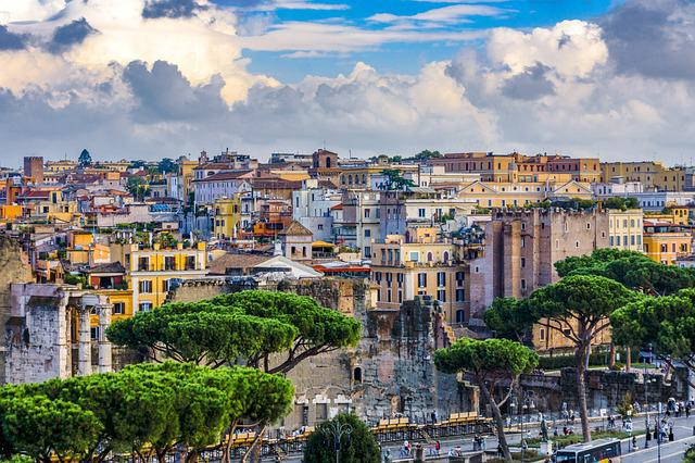 Rome, Houses, Italy, City, Building, Travel, Vacations