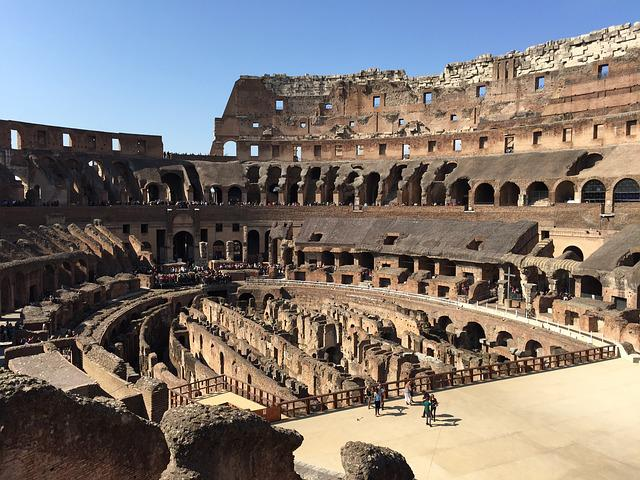 Italy, Rome, Stadium, Klunky, Building