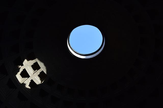 Dark Side, Italy, Light, Pantheon, Rome
