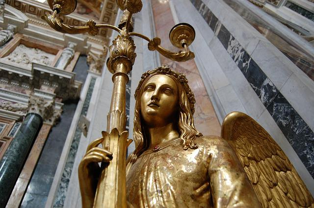 Rome, Angel, Church, Statue, Italy, Religion