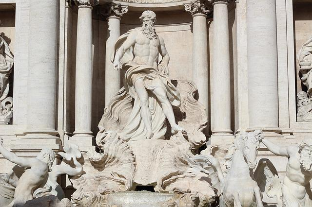 Rome, Source, Italy, Trevi, Statue