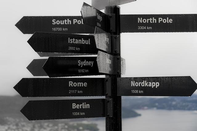North, Rome, Berlin, Sydney, Istanbul, Bergen, Norway