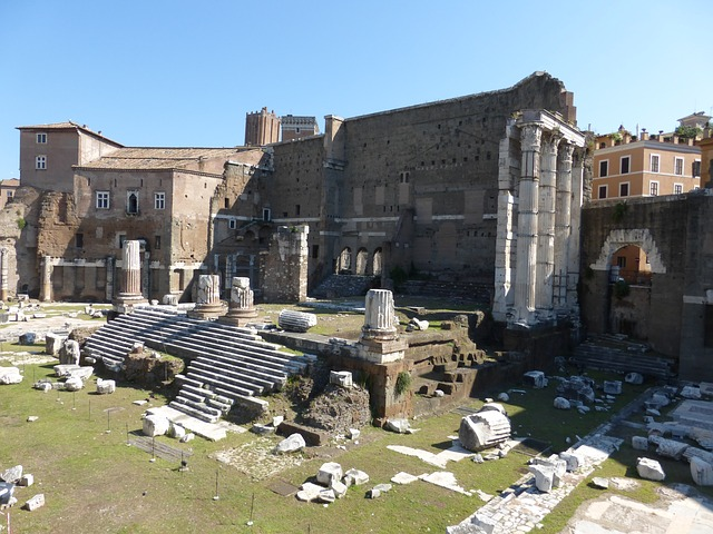 Rome, Italy, Forum, Temple, Ruins