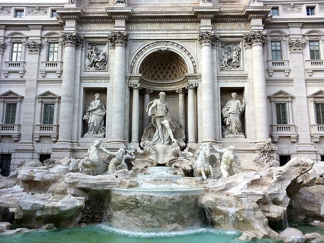 Rome, Trevi Fountain, Holiday, City Trip