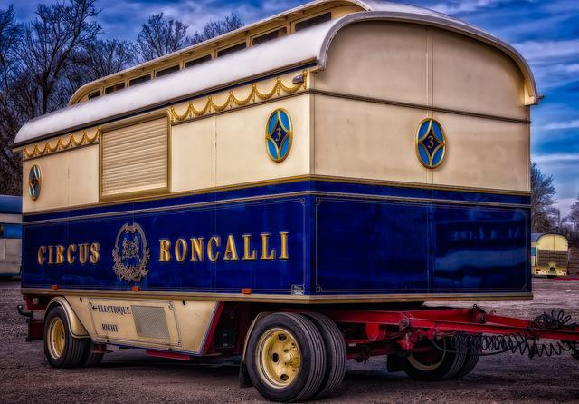 Cirkus, Dare, Old, Roncalli, Nostalgia, Vehicle