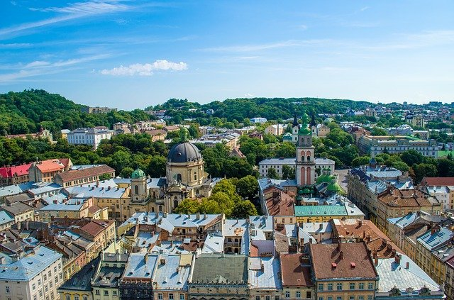 Lviv, Ukraine, Europe, Roof, At Home, City, Sights