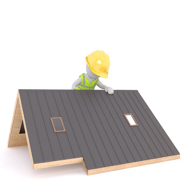Roof, Roofers, Craftsmen, Helmet, Safety Vest