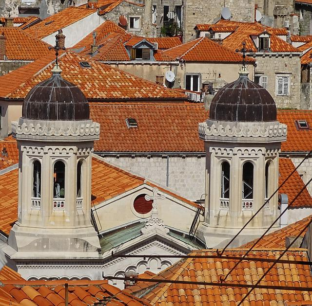 Dubrovnik, Croatia, Roofs, Couple, City, Europe